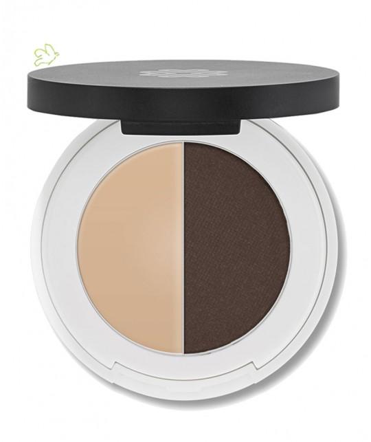 Lily Lolo Ombre à Sourcils Naturel maquillage minéral - Duo teinte dark - pour les brunes