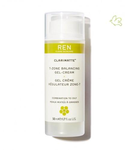REN clean Skincare - Clarimatte Gel Crème Régulateur Zone-T peau mixte naturel végétal visage matifiant
