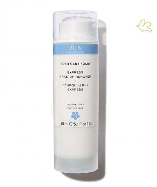 REN Skincare Rosa Centifolia lait Démaquillant Express doux flacon pompe