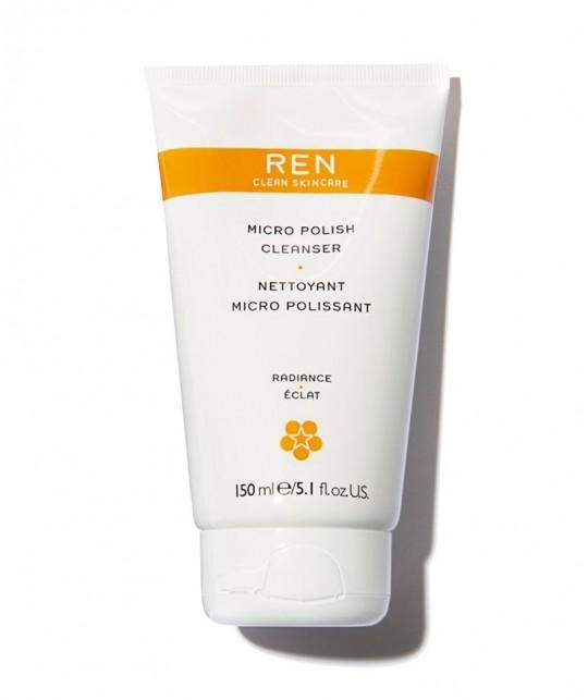 REN Nettoyant Micro Polissant exfoliant naturel gommage visage teint terne
