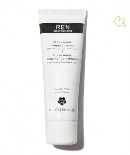 REN clean skincare Flash Rinse 1 Minute Facial clean skincare vegan