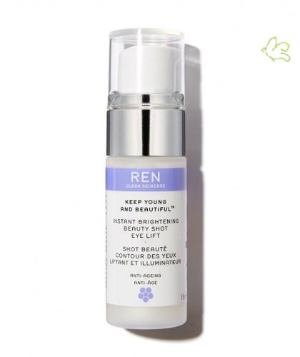 REN Contour des Yeux Liftant et Illuminateur clean Skincare Keep Young And Beautiful Shot Beauté flacon pompe
