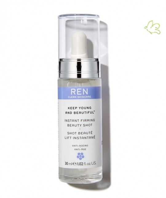 REN clean skincare - sérum naturel huile flacon pipette Keep Young And Beautiful Shot Beauté Lift Instantané gel
