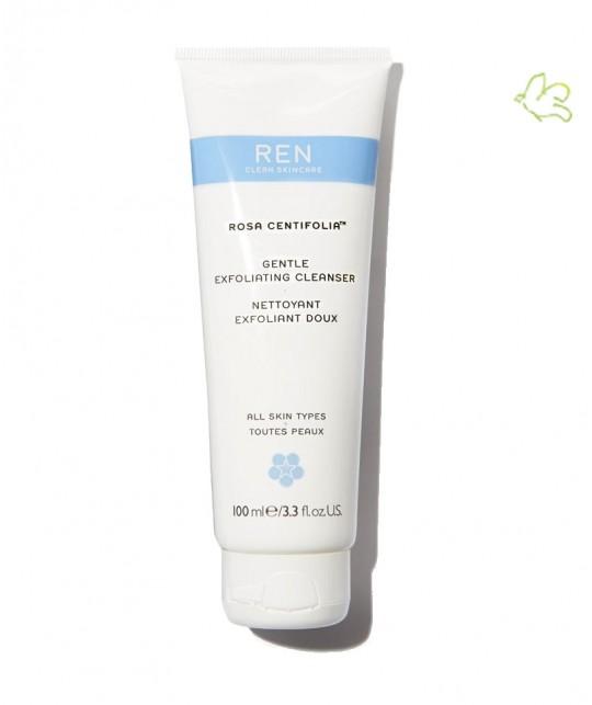 Nettoyant Exfoliant Doux REN clean skincare Rosa Centifolia naturel peau sensible