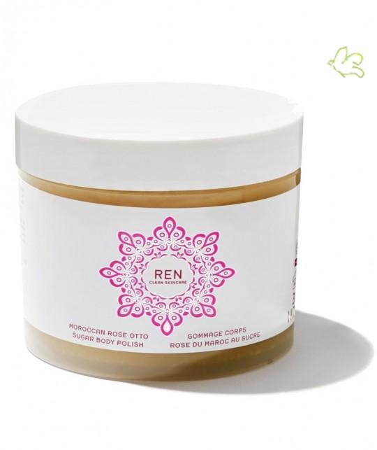REN clean skincare - Gommage Corps naturel Rose du Maroc au Sucre de canne végétal doux gommage clean Skincare