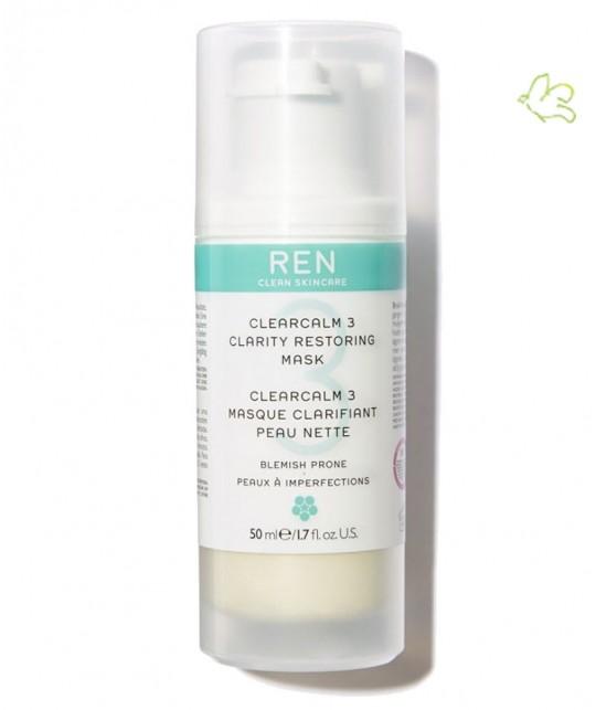 Masque Clarifiant Peau Nette acné ClearCalm 3 REN skincare cosmétique clean