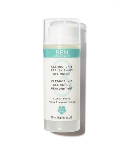 REN Skincare - ClearCalm Gel Crème visage Rehydrîatant peau acnéique imperfections flacon pompe