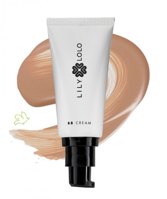 Lily Lolo Natural BB Cream medium mineral cosmetics swatch