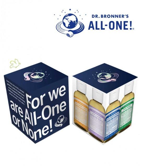 Dr. Bronner's Magic Box organic liquid soaps vegan recyclable