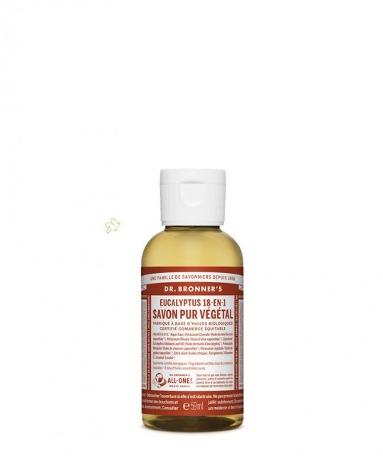 Dr. Bronner's - Savon Liquide bio Pur végétal Eucalyptus flacon mini 60ml voyage