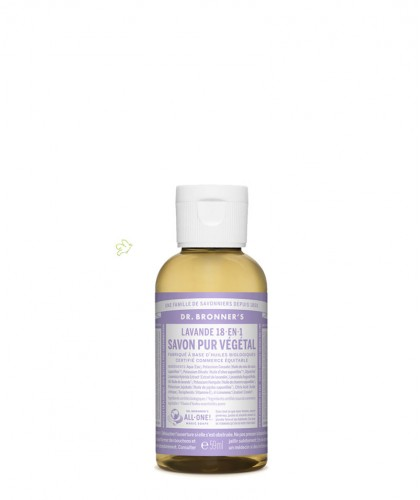 Dr. Bronner's Organic Liquid Soap Lavender mini travel 60ml - 2 oz.