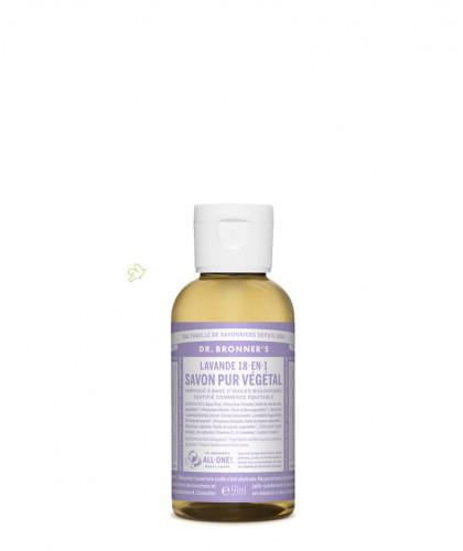 Dr. Bronner's - Savon Liquide bio Pur Végétal Lavande flacon mini voyage 60ml