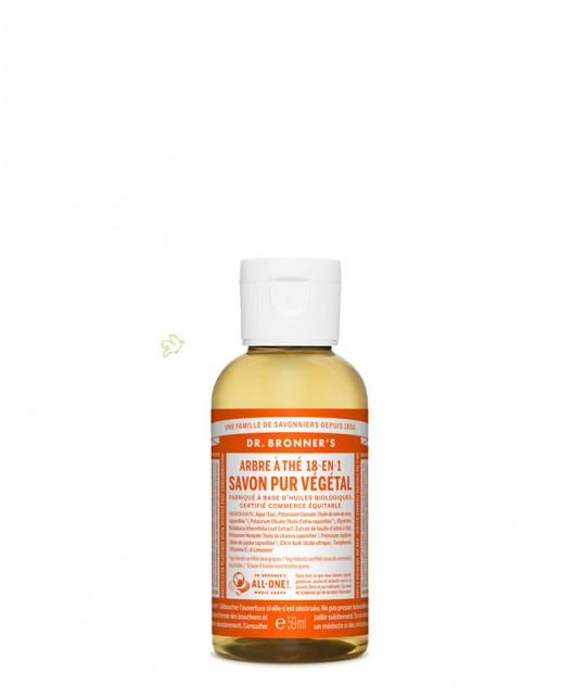 Dr. Bronner's - Savon Liquide bio Pur Végétal Tea Tree Arbre à Thé Tea Tree gel douche anti-bactérien mains hygiène lavage
