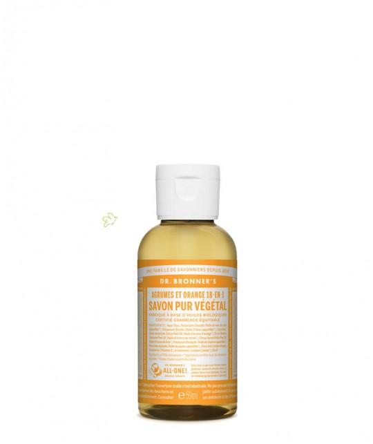 Dr. Bronner's Flüssigseife Zitrus Orange Mini Reisegrösse Soap 60ml