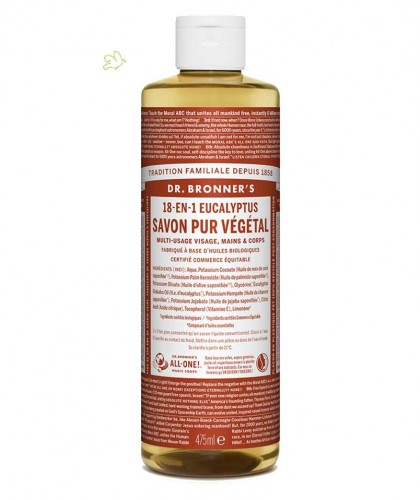 DR. BRONNER'S Organic Liquid Soap Eucalyptus 475ml - 16 oz.