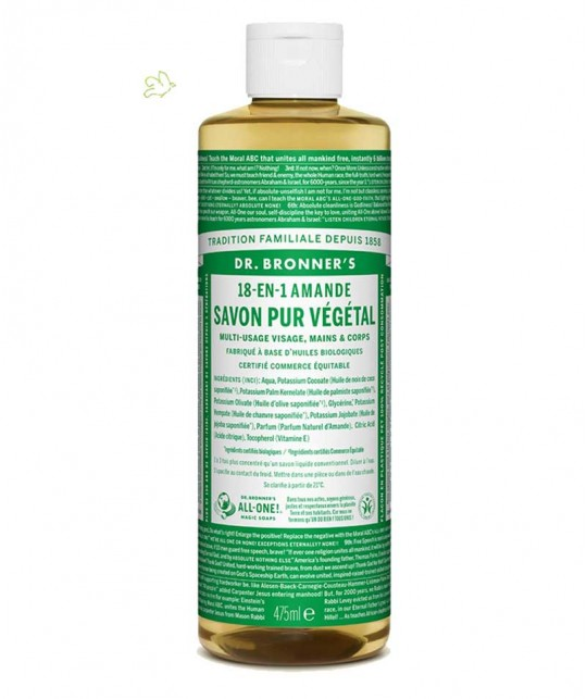 Dr. Bronner's - Liquid Soap Almond Organic 475ml - 16 oz.