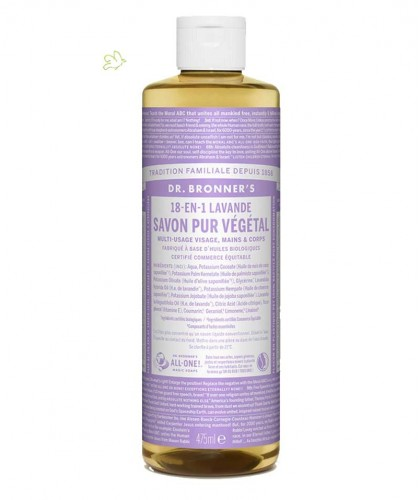 Dr. Bronner Liquid Soap Lavender Organic 475ml - 16 oz.
