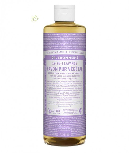 Dr. Bronner Liquid Soap Lavender Organic 475ml - 16 oz.