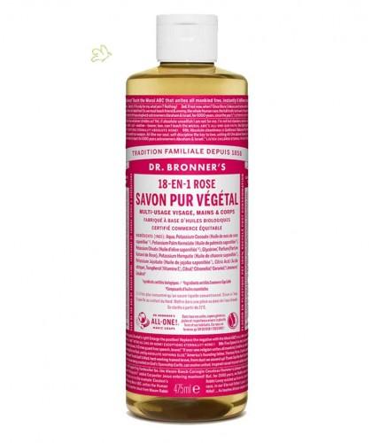 Dr. Bronner's - Liquid Soap Rose Organic vegan 475ml - 16 oz.