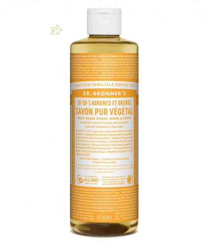 Dr. Bronner Liquid Soap Citrus Orange Organic lemon vegan fairtrade 475ml - 16 oz.