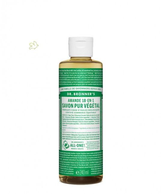 Dr. Bronner's - Organic Liquid Soap Almond 240ml - 8 oz.