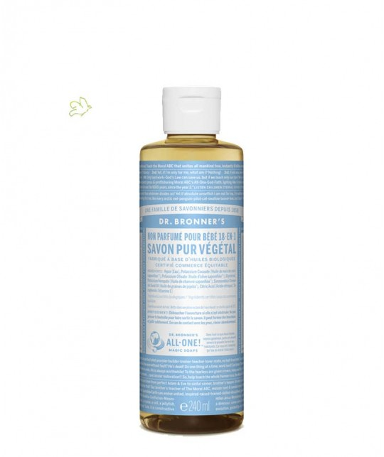 Dr. Bronner's - Organic Liquid Soap Baby Mild 240ml - 8 oz. Magic Soaps
