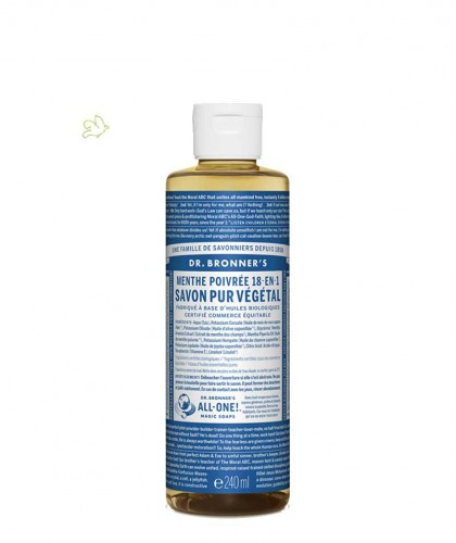 Dr. Bronner's - Organic Liquid Soap Peppermint 240ml - 8 oz. Magic Soaps
