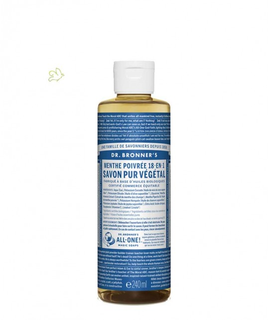 Dr. Bronner's - Flüssigseife Pfefferminze 240ml Magic Soaps