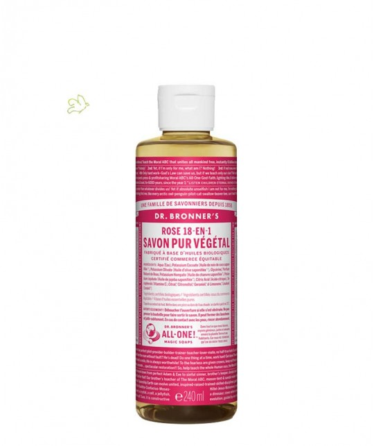 Dr. Bronner's - Organic Liquid Soap Rose 240ml - 8 oz.