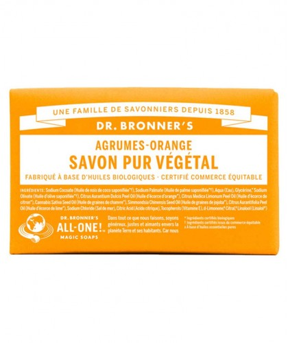 Dr. Bronner's Organic Bar Soap Citrus Orange