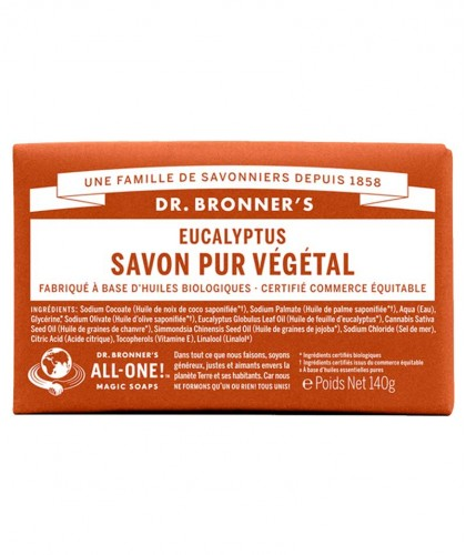 Dr. Bronner's Bar Soap Eukalyptus Seife