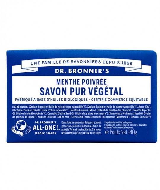 Dr. Bronner's Bar Soap Pfefferminze vegan