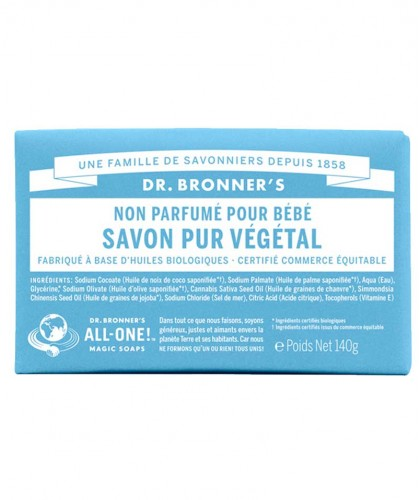 Dr. Bronner's Organic Bar Soap Baby Mild natural cosmetics