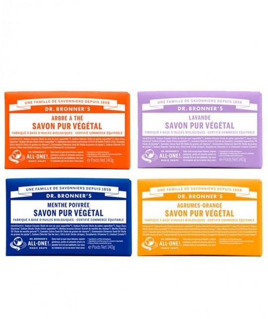 Dr. Bronner's - Bar Soaps reine Naturseife Fair Trade vegan All-One magic
