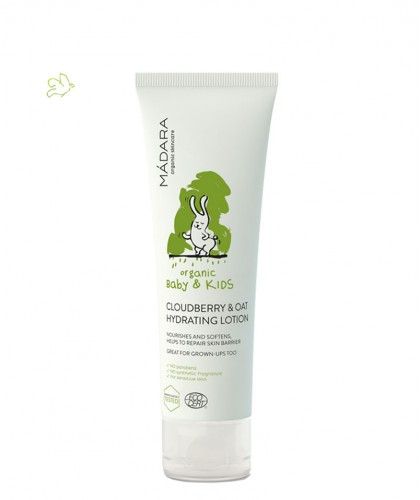MADARA Cloudberry & Oat Hydrating Lotion Baby & Kids organic cosmetics