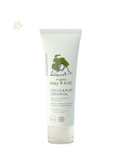 MADARA Bébé Huile bio Enfant Onctueuse Cacao & Prune organic cosmetics -