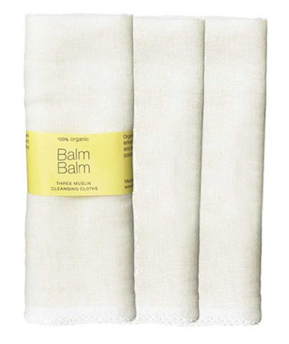 Balm Balm - Organic Muslin Face Cloth pack of 3