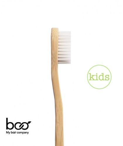 My Boo Company - Brosse à Dents recyclable en Bambou - Enfant (poils souples) blanc nylon sans BPA compostable écologique