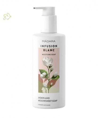 MADARA Gel Douche hydratant bio Infusion Blanc Jasmin naturel plantes peau sensible cosmétique bio