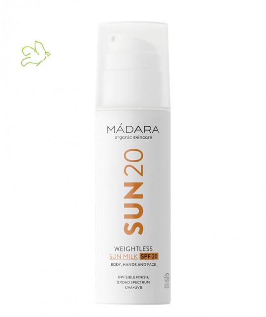 MADARA cosmetics SUN20 Weightless Sun Milk SPF 20