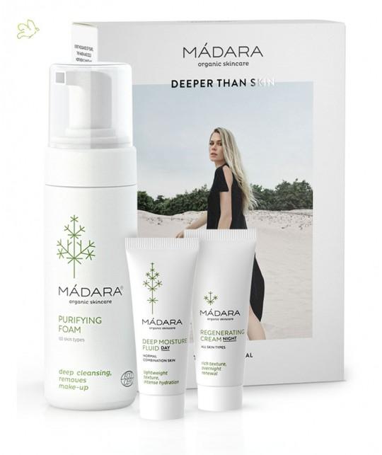MADARA cosmétique - Kit Découverte Coffret soin visage bio  Become Organic tout type de peau