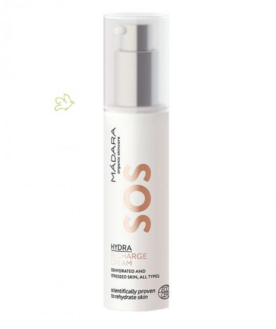 MADARA Crème Hydratante Visage naturelle SOS Hydra Recharge végétal peau fatiguée sensible plantes cosmétique bio