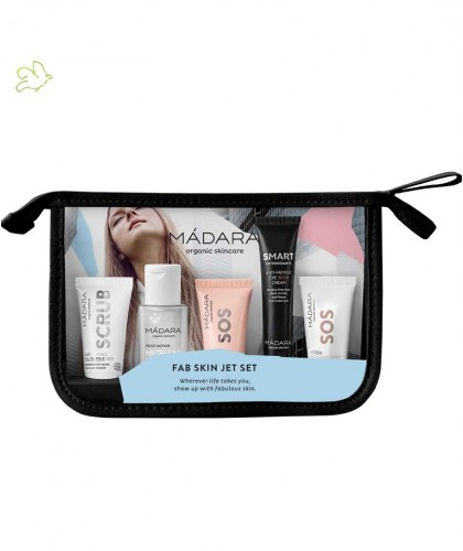 MADARA Kit Voyage Trousse soin visage anti-pollution Fab Skin Jet Set cosmetique bio