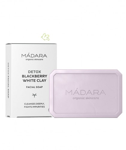 MADARA organic cosmetics White Clay & Blackberry Clarifying Face Soap