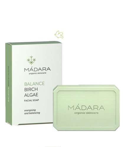 MADARA Savon Equilibrant bio Bouleau & Algue peau mixte cosmétique naturelle