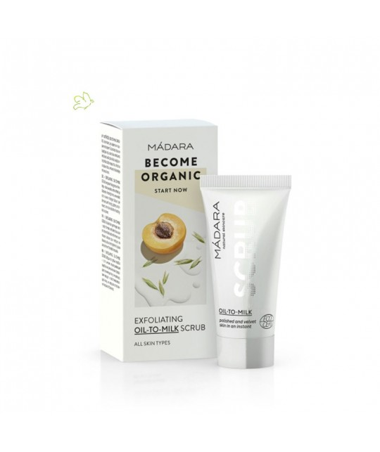 MADARA Exfoliating Oil-To-Milk Scrub 12,5ml organic cosmetics