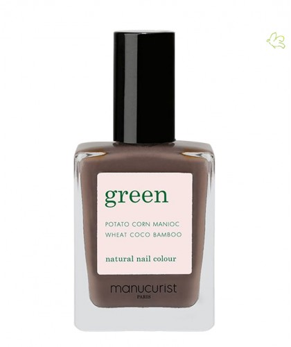 Manucurist Nail Polish GREEN Dark Wood brown natural color vegan