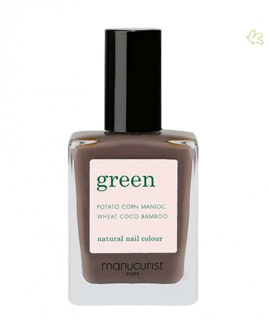 Manucurist Paris - Vernis  GREEN Dark Wood ongles marron