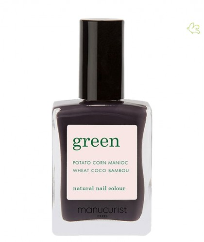 Manucurist Nagellack GREEN Queen of Night Violett  vegan Ökolack Naturkosmetik 9 free