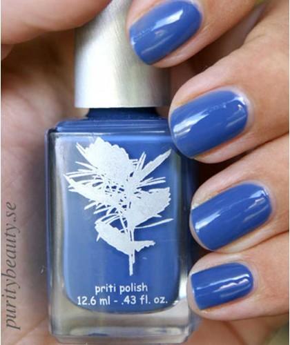 Priti NYC Natural Nail Polish 648 Californian Bluebell swatch